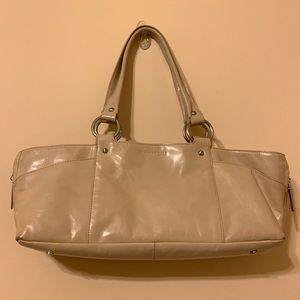 Kenneth Cole tan leather satchel